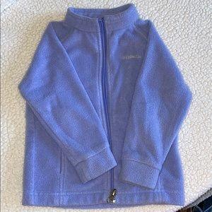 Columbia toddler purple fleece